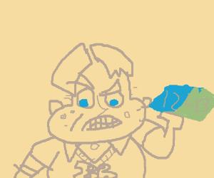 Bling Bling Boy eats a 12 pound eraser.