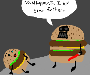 Burger King Star Wars Fanfiction Drawing By Tjforceix Drawception