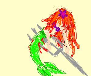 Ariel stabbed by Fork