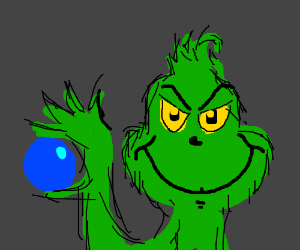 How the Grinch stole a blue ball.