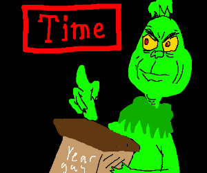 Times 'man of the year' - The Grinch