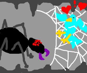 """""""black spider WEBS blue bird"""" Interracial XxXX"""