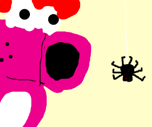 Birdo is Scared of a Spider