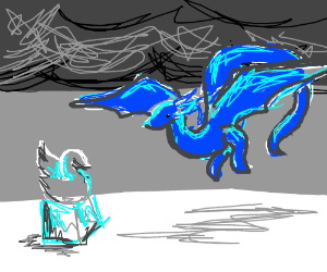Frost Wyrm makes ice sculpture