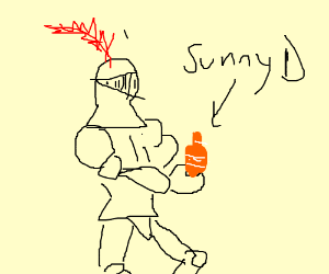 Knight with Sunny D