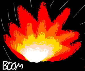 A detailed explosion