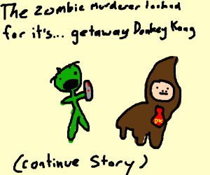 The zombie murderer looked for its(cont story)