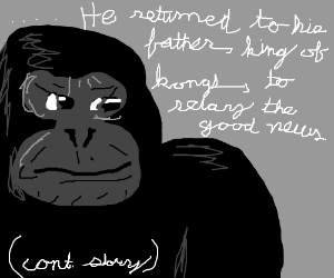 Donkey Kong stood victorious (cont. Story)