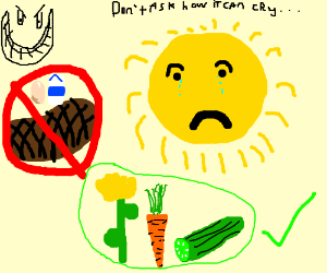 Forcing the sun to be vegan.