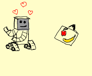 Robot loves painting of fruit