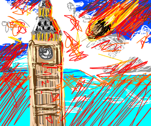 Meteor About to Hit Big Ben