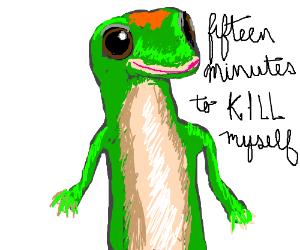 suicidal lizard