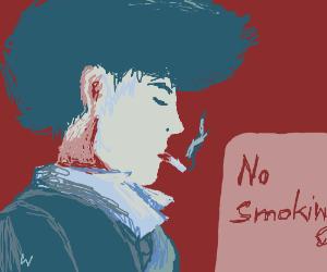 Close-up of smoking Spike Spiegel