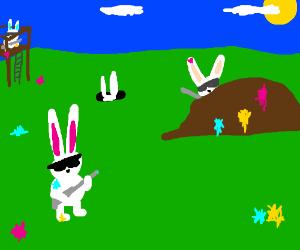 Rabbit paintball warfare