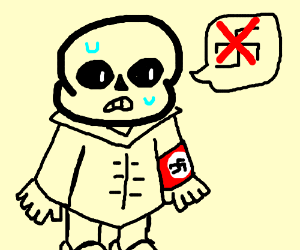 Sans does not like nazis, but is one.