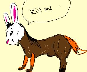 Horse Bunny Fox Hybrid Abomination