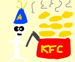 White wizard makes kfc