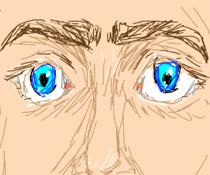 Close up of eyes, almost a unibrow