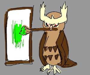 That owl pokemon painting an uncreative color.