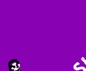 Skull on purple backround