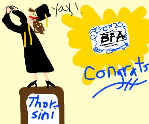 Thorsini got her BFA! Congrats!