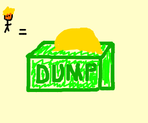 donald trump? more like donald dump