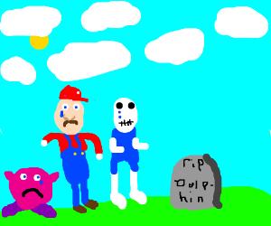 Mario naruto sans and kirby play go fish for Mario go fish
