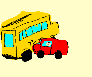 man gets into a school bus accident drawing by sean koepfinger rh drawception com School Bus Crash in Columbia South Carolina School Bus Crash Kills 4