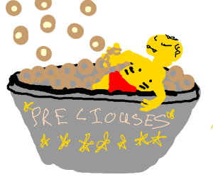 Gollum obsessed with cereal-rings