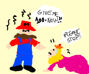 Mario disappointed by morbidly obese princess