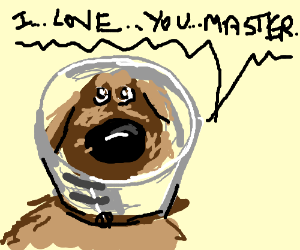Dog from Up says he loves his master