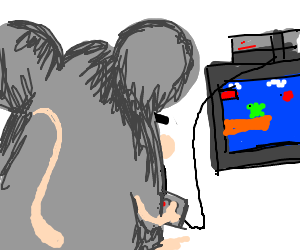 Mouse plays NES