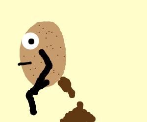 Potatoes poop too