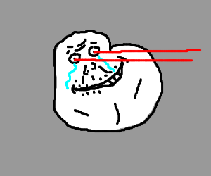 forever alone is shooting lasers