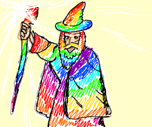 Gandalf the Rainbow-colored.