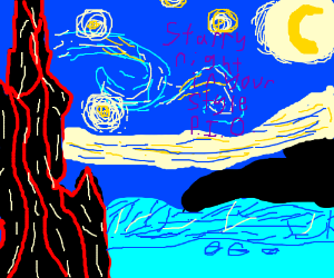 Starry night in your own style PIO