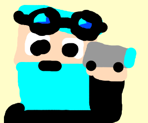 DanTDM as an old man because he has abluebeard