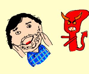 Jack Black is surprised to see a demon alien.