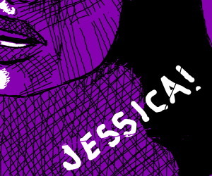 Jessica the purple girl
