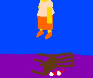 Milhouse hangs himself