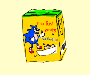 corn pops with sonic on the cover