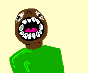 suprised black man
