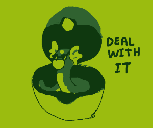 """""""Deal with it"""" dratini comes from pokeball"""