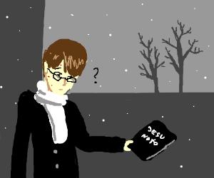 Nerd finds a Death Note book