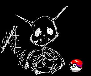 pikachu as a skeleton