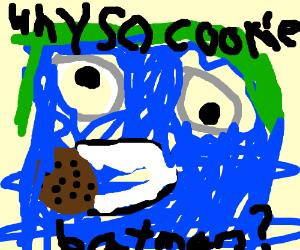 Cookie Monster As The Joker Drawception
