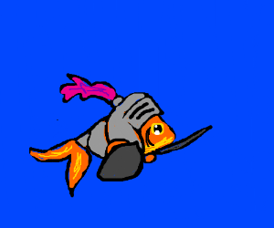 Underwater fish knight