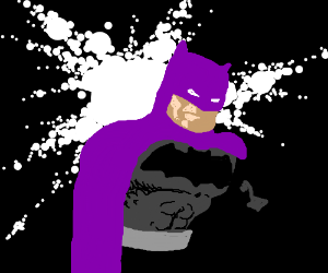 Batman with purple cape