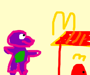 barney goes to McDonalds
