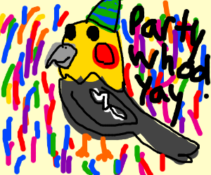 Dance party bird